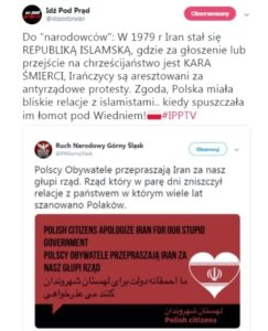 """To the """"nationalists"""": In 1979, Iran became the Islamic republic, where the punishment for the preaching or conversion to Christianity is the death penalty, Iranians are arrested for anti-government protests. Agreed, Poland had a close relationship with Islamists … when she gave them a good trouncing in Vienna!"""